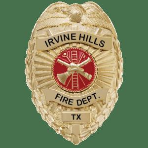 Hero's Pride Metal Badge - Irvine Hills TX